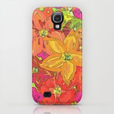Autumn Floral Samsung Galaxy S4 case by Lisa Argyropoulos