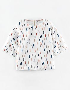 Square Tee WA634 3/4 Sleeved Tops at Boden