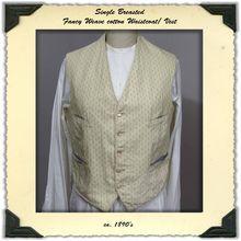 Late Victorian Mens Fancy Weave Waistcoat