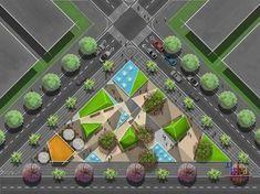 Landscape Architecture Design, Architecture Board, Landscape Plans, Urban Landscape, Plaza Design, Site Plans, Urban Furniture, Landscape Pictures, Master Plan