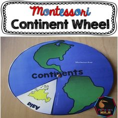This is a revision Geography tool for Montessori students. It is an interactive activity where students make a wheel about the continents.I talk about this resource in my blog post herePURPOSE OF THIS RESOURCEA great revision tool for continent knowledge instead or in addition to 3 part cardsStudents  colour in the continent and/or write its name Included are all continentsAlternatively students can work independently on this as a piece of geography workHOW TO USE1) Print off the front page…