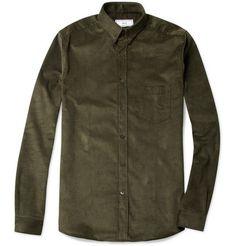 AmiButton-Down Collar Corduroy Shirt MR PORTER