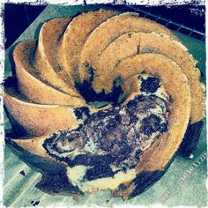 """Shit happens! Nevertheless it was the most delicious Marble Bundt Cake I've tasted so far. The addition of 1/3 cup chocolate chips is genious, and I'll do so with every marble Cake in the future. Chocolate Chip-Sour Cream Marble Cake- """"A Passion for baking""""."""