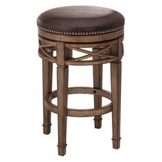 Hillsdale Chesterfield Backless Swivel Counter Stool - Beautifully blending antique style with modern design, the Hillsdale Furniture Chesterfield Backless Swivel Counter Stool is a gorgeous addition...