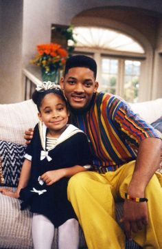 Still of Will Smith and Raven-Symoné in The Fresh Prince of Bel-Air (1990)