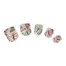 Kids Glitter Butterfly Faux Nails