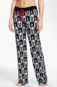 PJ Salvage Print Thermal Pajama Pants (boston terriers. small) available at #Nordstrom