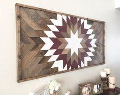 SALE Reclaimed wood wall art wood wall decor modern wall