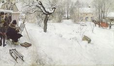 Open-Air Painter, 1886  Carl Larsson  Swedish, 1853-1919   Oil on canvas, 119 x 209 cm  Nationalmuseum, Stockholm, NM 2546