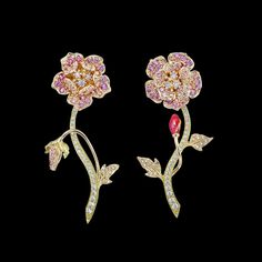 Pink Geranium Earrings – ANABELA CHAN . LONDON . PARIS