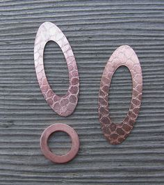 Another Pinner wrote: Look what happens to a cheap copper washer in a rolling mill. Placed a piece of netting on them during the third pass through the mill. Cool!