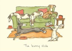 M111 THE BUNNY CLUB  a Two Bad Mice card by Anita Jeram