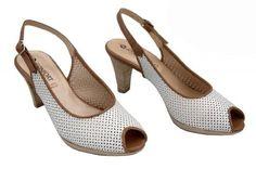 Zapatos de mujer. Confort - Zapatos Mujer Sandalias Talón Abierto Con Despuntes Elegant