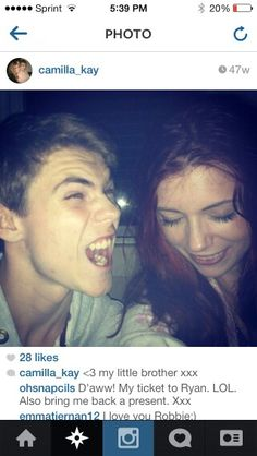 From Robbies sisters instagram! :) Rob being goofy  :p lol
