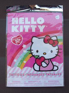 Hello Kitty 50 Tattoos To Put On Kids Skin by Sanrio/Savvi SIL-34315 Made In USA #SavviSanrio