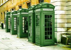 Year A british greenish new telephone booth collection. Irish Pub Interior, Bar Interior, Interior And Exterior, Rainbow Aesthetic, Aesthetic Colors, London Phone Booth, Telephone Booth, Green Wallpaper, Green Kitchen