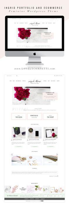 Ingrid portfolio and eCommerce Genesis Child Theme is a stylish, feminine and versatile Wordpress theme perfect for small business and photographers