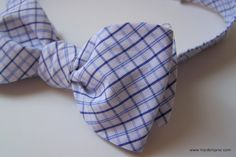 upcycled bow tie