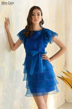 Have all eyes drawn on you from the moment you enter the room in our Jessica royal blue dress. All About Eyes, Blue Dresses, Royal Blue, Shoulder Dress, Satin, Outfit, Room, Fashion, Outfits