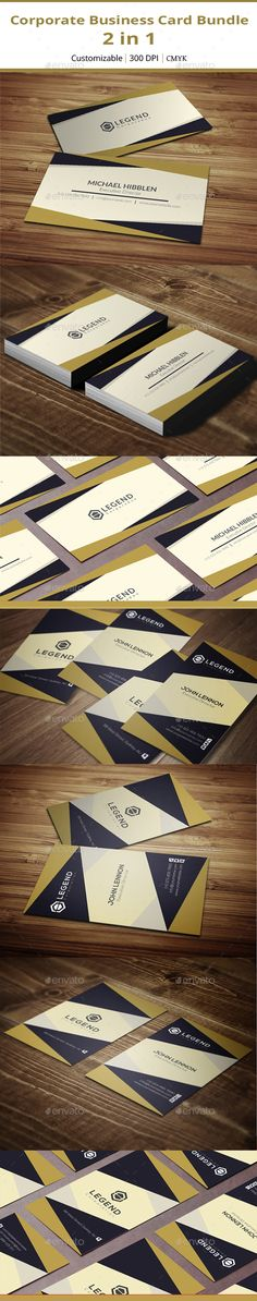 Corporate Business Card Bundle - 2 in 1 - Corporate Business Card Template Vector EPS, Vector AI. Download here: http://graphicriver.net/item/corporate-business-card-bundle-2-in-1/16478615?s_rank=419&ref=yinkira