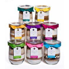 Gourmet Baking Mixes in Jars.