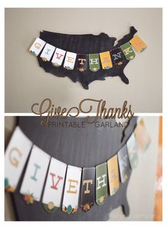 Thanksgiving Printable Wreath and Garland...must have for Thanksgiving decor. I love that this one is printable.