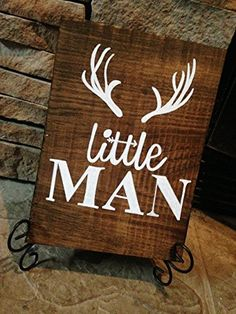 rustic deer nursery sign, little man deer antler sign, rustic nursery décor, woodland nursery theme, deer nursery, wood animals nursery, rustic baby shower