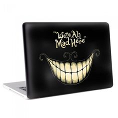 MacBook , Skin , Decal , Sticker , Cover , Laptop , Notebook , Apple ,Wrap skins , Cheshire Cat , alice in wonderland ,Cheshire Cat We are All Mad Here MacBook Skin / Decal (KMB-0043)