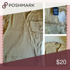 S 4-6 Gap maternity tan lightweight wrap sweater Gap maternity lightweight cotton wrap sweater with tie 3/4 sleeves Size small Color: tan 100% cotton New with tags  ?I'm clearing out a lot of items. I will be listing new items daily. I'm  open to offers on all my listings. I will also do special discounts on bundles ? GAP Sweaters Shrugs & Ponchos