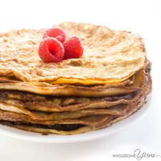 These decadent mascarpone crêpes are so simple to make, requiring just four basic ingredients. Low carb and gluten-free.