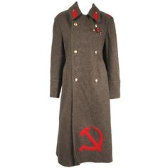 1980's Russian Military OverCoat USSR ORIGINAL UNIFORM | From a collection of rare vintage coats and outerwear at https://www.1stdibs.com/fashion/clothing/coats-outerwear/