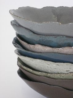 CLEMENTINA | Stacked bowls from WABI SABI range Hand Built Pottery, Slab Pottery, Ceramic Pottery, Pottery Art, Ceramic Art, Terracotta, Clay Bowl, Inside Design, Contemporary Ceramics