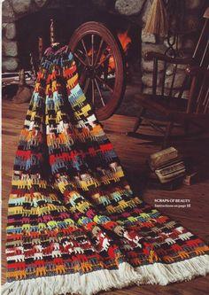PDF Crochet Pattern - AFGHAN Crochet Scraps of Beauty 201214 $3.50