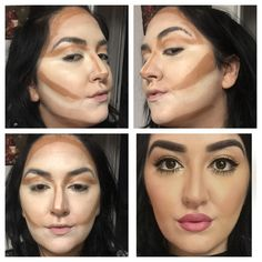 makeup by me  contour and highlight with NYX COSMETICS mineral stick foundations. Blended with Beauty Blender. Kylie Jenner Lips. www.themakeupdoll.com