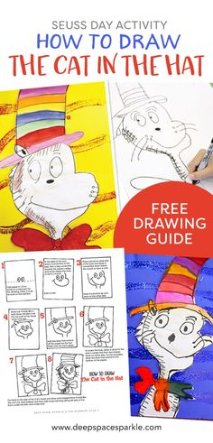 Dr. Seuss Day Activity: How to Draw Cat in the Hat