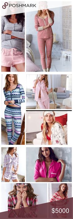 Victoria Secret Pajama Sets and Sleep Shirts I'm so Glamorous even in Pajamas😬😬😃Victoria Secret Brand New Pajama Sets, Sleep Shirts and Knit Robes in size xsmall, Small and Medium. Victoria's Secret Intimates & Sleepwear Chemises & Slips