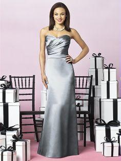 Platinum bridesmaid gown