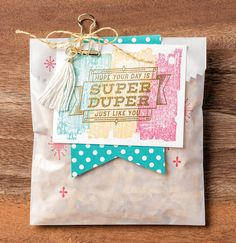 We hope your birthday is super duper...and that you'll make lots of birthday cards with the Super Duper stamp set to share with all your friends and family. #stampinup #OccasionsMini2017