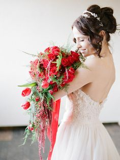 Poppy red bouquet, Jessica Watson Photography, Florals Designs by Jessi