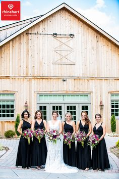 black floor length bridesmaids gowns glasbern inn wedding photographer lehigh valley wedding photographer