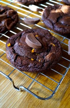 These cookies guys are the best cookies I've made to date! Like a brownie and a cookie rolled into one and totally festive and very scrumptious. The perfect bake for a lazy Sunday afternoon, then e...