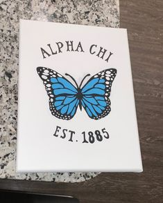 Looking for the perfect Big/Little gift, or dorm decoration? Get a customized canvas! This entire canvas is customizable: colors, font, text, etc. Just let me know what your preferences are. Big Little Basket, Big Little Gifts, Butterfly Canvas, Butterfly Painting, Sorority Crafts, Sorority Paddles, Sorority Recruitment, Sorority Letters, Sorority Canvas Paintings