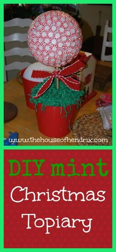 Christmas Mint Topiary - Christmas craft ideas and decor christmas crafts food Christmas Topiary, Christmas Love, Christmas Goodies, All Things Christmas, Beautiful Christmas, Christmas Themes, Christmas Holidays, Christmas Decorations, Grinch Christmas