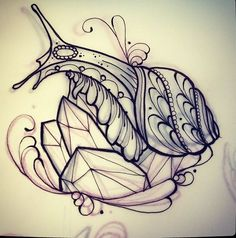 Image result for snail tattoo