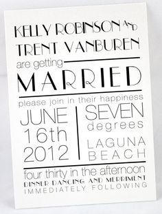 Typeface for invite by JessicaLamDesigns on Etsy, $100.00