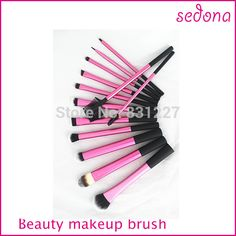 13 pcs rose Super doux Taklon cheveux maquillage brosse professionnelle de base Kit dans Brosses et instruments de maquillage de Health & Beauty sur AliExpress.com | Alibaba Group