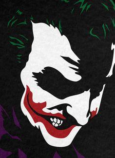 Vector art, based off of a block printing design I did for class Batman Wall Art, Batman Painting, Joker Pics, Joker Art, Joker Hd Wallpaper, Joker Drawings, Heath Ledger Joker, Dc Comics, Joker And Harley Quinn