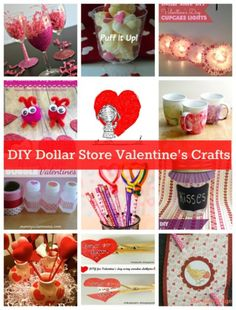 DIY Dollar Store Valentine's Day Crafts & Gifts. Savings and creativity at the dollar store!