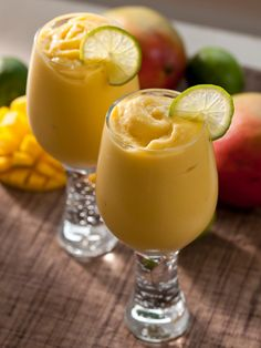 This Mango Mock-o-Lada can be made ahead and frozen in ice cube trays, then reblended when party guests arrive.