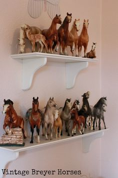 I have boxes of these model Breyer horses from my childhood! I still am horse crazy!